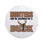 Hunters/Buck Round Ornament