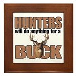 Hunters/Buck Framed Tile