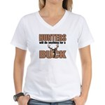 Hunters/Buck Women's V-Neck T-Shirt