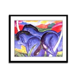 Blue Horses Framed Panel Print