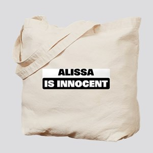 ALISSA is innocent Tote Bag