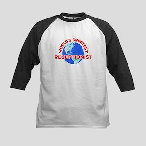 World's Greatest Recep.. (F) Kids Baseball Jersey