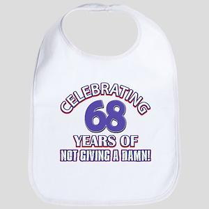 68th birthday design Baby Bib