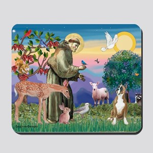 Saint Francis /Boxer Mousepad