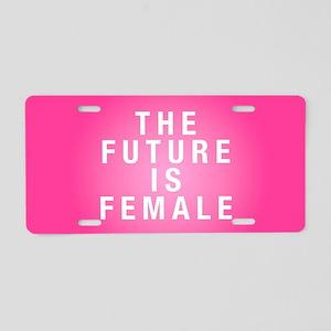 Future is Female Aluminum License Plate