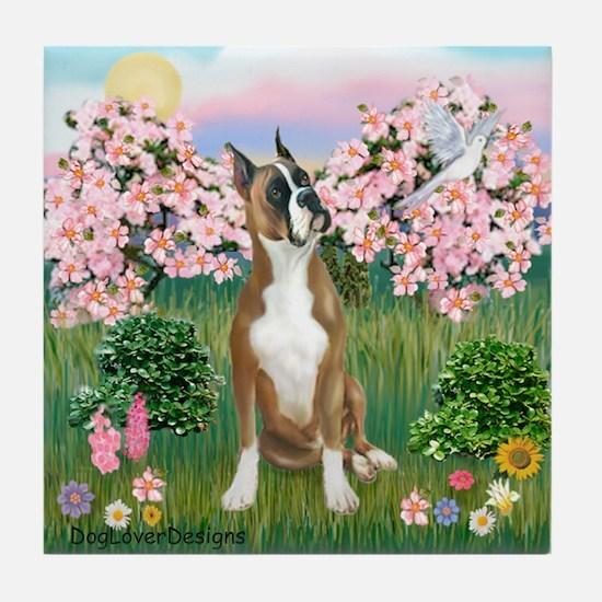 Blossoms / Boxer Tile Coaster