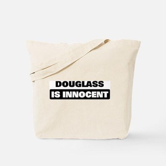 DOUGLASS is innocent Tote Bag