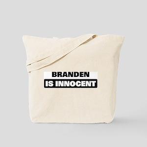 BRANDEN is innocent Tote Bag