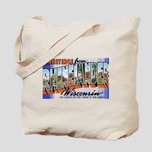 Rhinelander Wisconsin Greetings Tote Bag