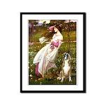 Windflowers & Boxer Framed Panel Print