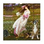 Windflowers & Boxer Tile Coaster