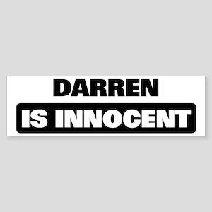 DARREN is innocent Bumper Sticker
