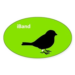 iBand (green) Oval Decal