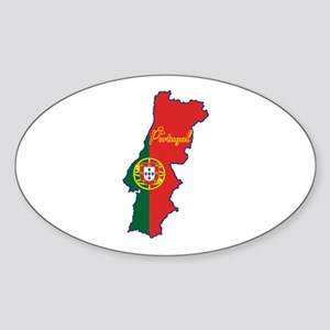 Cool Portugal Oval Sticker