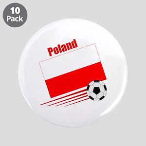 "Poland Soccer Team 3.5"" Button (10 pack)"