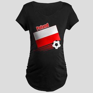 Poland Soccer Team Maternity Dark T-Shirt