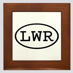 LWR Oval Framed Tile