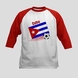 Cuba Soccer Team Kids Baseball Jersey