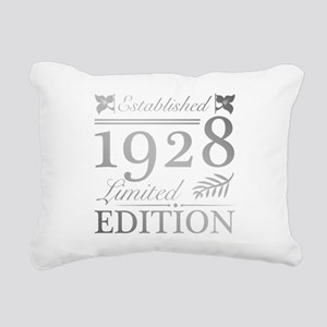 Established 1928 Rectangular Canvas Pillow