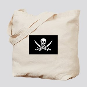 Calico Jack Rackham Pirate Flag Tote Bag