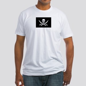 Calico Jack Rackham Pirate Flag Fitted T-Shirt