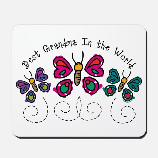 Butterfly Best Grandma Mousepad