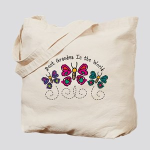 Butterfly Best Grandma Tote Bag