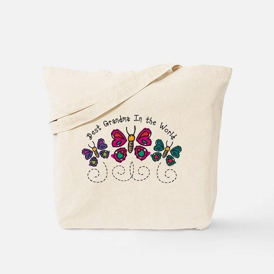 Butterfly Best Grandma Tote Bag