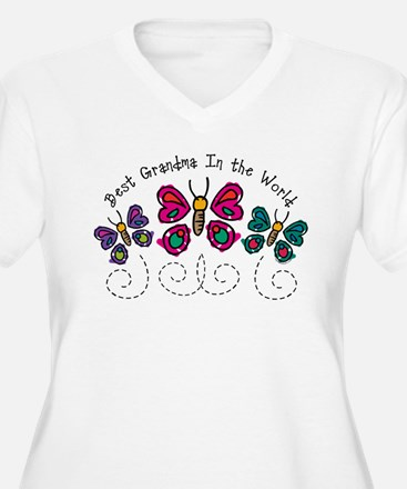 Butterfly Best Grandma T-Shirt
