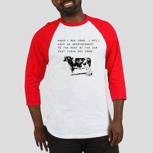Cow Sighting Baseball Jersey