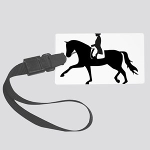Dressage Horse Large Luggage Tag
