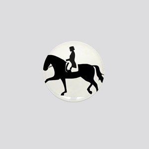 Dressage Horse Mini Button