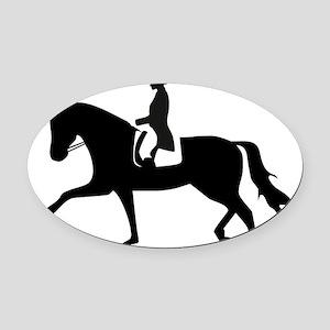 Dressage Horse Oval Car Magnet