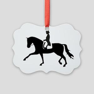 Dressage Horse Picture Ornament