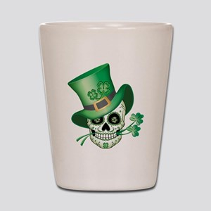 Irish Sugar Skull Shot Glass