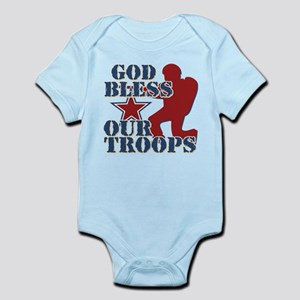 God Bless Our Troops Infant Bodysuit