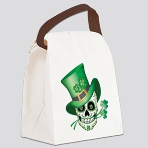 Irish Sugar Skull Canvas Lunch Bag