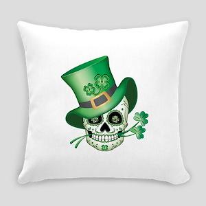 Irish Sugar Skull Everyday Pillow
