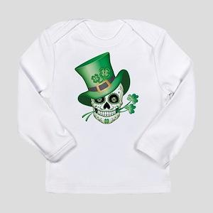 Irish Sugar Skull Long Sleeve T-Shirt