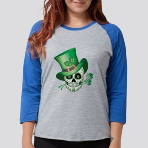 Irish Sugar Skull Long Sleeve T-Shirt