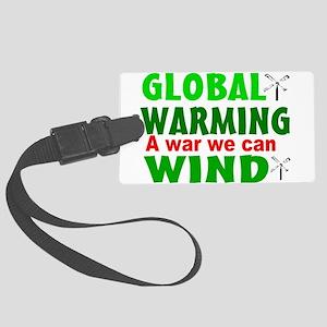 Global warming wind Large Luggage Tag
