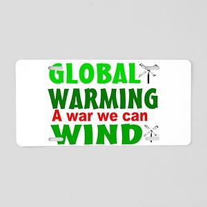 Global warming wind Aluminum License Plate