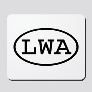 LWA Oval Mousepad