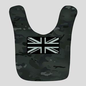 British Flag: Dark Urban Camouf Polyester Baby Bib