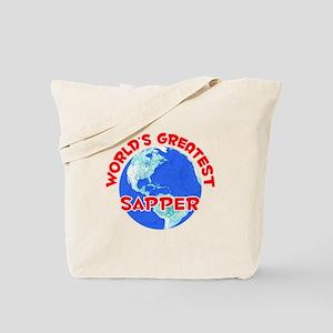 World's Greatest Sapper (F) Tote Bag