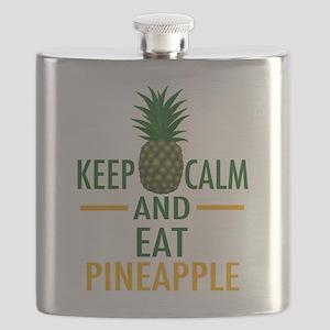 Keep Calm Pineapple Flask