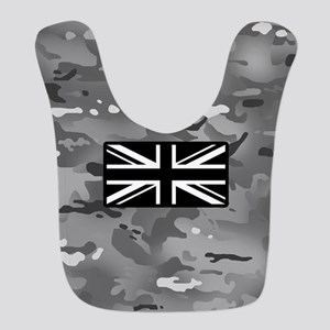 British Flag: Urban Camouflage Polyester Baby Bib