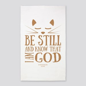 Be still and know that I am GOD-Christian Area Rug