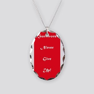 Survivors Never Give Up 4Harry Necklace Oval Charm