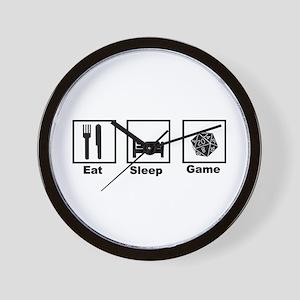Eat, Sleep, Game Role Playing Wall Clock